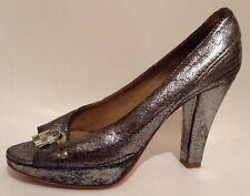 Chloe100% Authentic Gorgeous Paddington Metallic Heels Sz 39