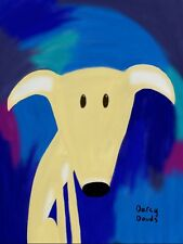 WHIPPET LURCHER GREYHOUND PRINT ABSTRACT MODERN ART DRAWING ORIGINAL DESIGN CUTE