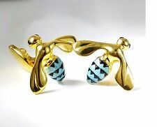 Bee Cufflinks, Enamel, Gold, Sterling Silver. G.DANILOFF&CO.USA  Retail-$420.00