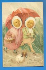 A BRIGHT EASTER TIME.TUCKS EASTER POSTCARD POSTED 1911