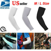 M & Large 5 Pairs Cooling Arm Sleeves Outdoor Sport Basketball UV Sun Protection