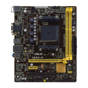 for ASUS A58M-E Socket FM2/FM2+ AMD A58 DDR3 SATA VGA DVI Micro ATX Motherboard