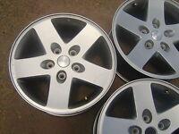 """07 08 09 10 11 12 13 14 15 Jeep Wrangler 17"""" alloy wheels rims 5x5 Sahara"""