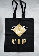 STYLIST LIVE *VIP* -Canvas Tote bag Black- New