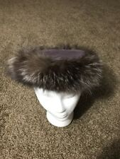 VINTAGE LUBBOCK TEXAS CAP & MILLINERY STUDIO FUR CHURCH HAT PURPLE TOP
