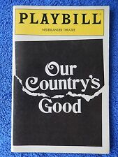 Our Country's Good - Nederlander Theatre Playbill - May 1991 - Amelia Campbell
