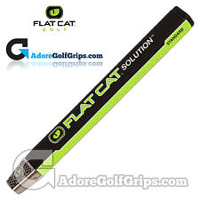 FLAT CAT® SOLUTION STANDARD - 12 Inch Midsize Putter Grip - Black / Green + Tape