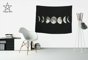 Amazing MOON PHASES Quality Wicca Tapestry Wall Hanging Wicca Decoration