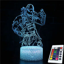Fortnite Battle Royale Action Figures NEON Lamp with different colors