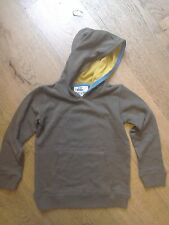 BNWOT Designer Mini Boden Sweatshirt Hoodie Jumper Khaki Green Backpack Age 5-6