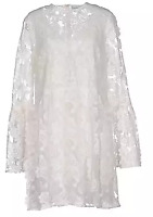 Perseverance White Lace Flare Sleeved Short Dress Ladies Size 14 *REF58