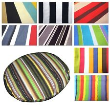 Flat Round Shape Cover*Striped Cotton Canvas Floor Seat Chair Cushion Case*AK1