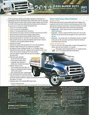 Truck Brochure - Ford - F-650 Super Duty Straight Frame Chassis Cab 2011 (T1733)