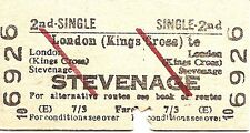 B.R.B. Edmondson Ticket - London Kings Cross to Stevenage