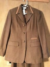 Conrad C Collection women's wool suit pant coat size 4 brownish Canada made