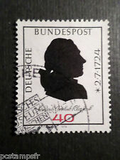 ALLEMAGNE FEDERALE RFA, 1974 GERMANY, timbre 660, KLOPSTOCK, oblitéré, CELEBRITY