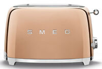 SMEG 50's Retro Style Aesthetic 2 Slice Toaster 950W Electric Rose Gold NEW