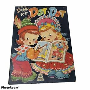 Vintage Draw from Dot to Dot Color 32 Pages from Merrill (1944) #3421