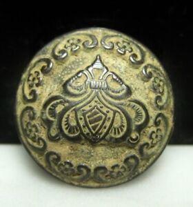 Antietam Smoketown Road Dug Civil War Relic 24mm Fancy Brass Shield Crest Button
