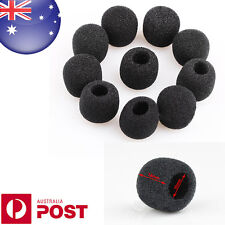 2 x Black Small Foam Covers Windshield for Lavalier Headset Lapel Mic - Z014