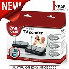 One For All Wireless Audio-Video Sender|Plug & play|Built In Remote Control|1715