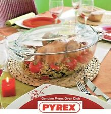 39cm Roaster Dish With Lid Glass Oval Oven Roasting Baking Pan Tray Pyrex 5.8Lt