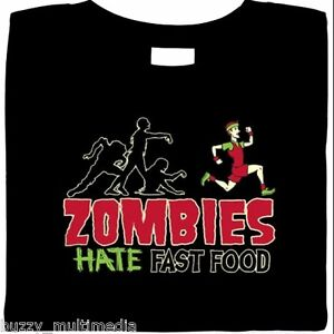 Zombies Hate Fast Food, Funny Zombie Shirts, Halloween T-Shirts