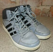 Adidas Mens Size 8 High Top Gray/Black Shoes