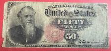 """1869 Us Fractional Currency """"Fifty Cents"""" """"Stanton""""! Old Us !"""