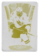 15/16 Upper Deck Contours #86 Joe Thornton Yellow Printing Plate #1/1