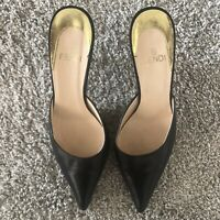 FENDI Black Mules Kitten Heel Size EUR 37, Orig. $560