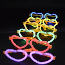 20 x Heart Shape Glow Light Sticks Eyeglasses Eye Glasses Night Party Rave