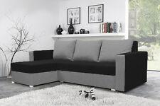 Corner Sofa Bed Living Room Brand New Storage Left Right Black Grey Fabrics Part 82