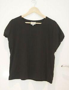 Seed Heritage Black Boxy Tee Shirt   ~Size XL~