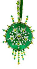 The Cracker Box Inc Christmas Ornament Kit Lemon Rind on Emerald