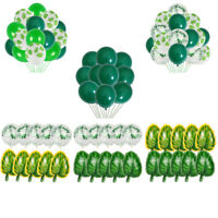 "Jungle Party Balloons Set 18"" Leaf Foil Balloon Arch Safari Birthday Decoration"