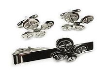 DRONE Remote Control RC Airplane Helicopter Suit TIE BAR CLIP CUFFLINKS SET