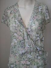 Paul & Joe pretty silk Metallic blouse size 3 += large Worn once free P&P