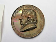 1834 German Medal. Honor; Friedrich Schleirmacher - Protestant Theologian. 45mm