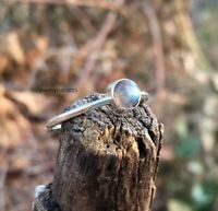 Solid 925 Sterling Silver Ring Anxiety Silver Ring Handmade Labradorite Ring ++