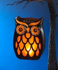 Halloween Spooky Owl Tin Lantern Bethany Lowe Vintage-style decor