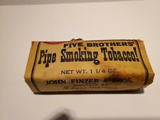 Five Brothers Vintage Pipe Smoking Tobacco Full Package! Finzer Bros.
