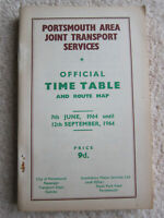 Portsmouth Area Joint Transport Services: Official Time Table and Route Map 1964