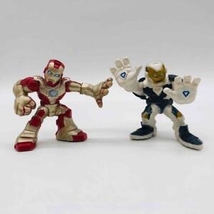 Marvel Super Hero Squad IRON MAN & GHOST ARMOR Figures Hasbro Imaginext Avengers