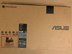 """NEW Asus C423N Chromebook 14"""" Intel Celeron N3350 1.1GHz 4GB DDR4 64GB eMMC"""
