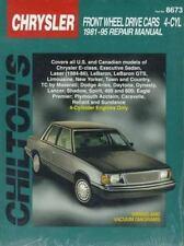 Chilton Chrysler Front Wheel Drive Cars 4 Cyl 1981-95 Repair Manual~ Free S&H~