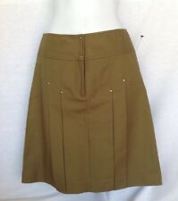 NEW Women's Etcetera Pleated Skirt, Olive Green Heavy Stretchy Size XS (0-2) NWT