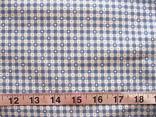 """100% Cotton Fabric """"Country Charm"""" by Marcus Brothers, Blue/Off White w/Red Dots"""
