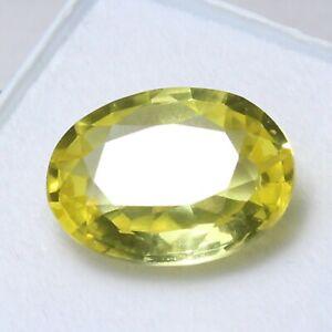 Certified 6.85 Ct Natural Unheated CEYLON Yellow Sapphire Loose Gemstones