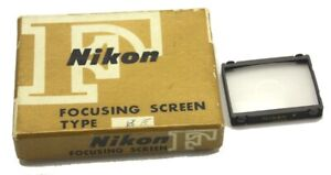Vintage Nikon F Focusing Screen Type E in Box Made in Japan Used